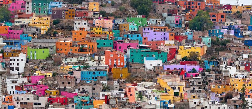 Colorful neighborhood in Guanajuato, Mexico