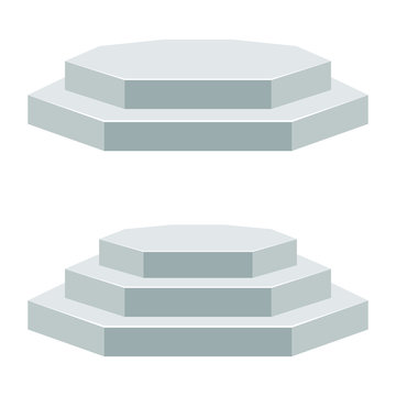 Three steps podium vector design illustration isolated on white background