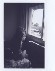 Anonymous nude girl in bedroom