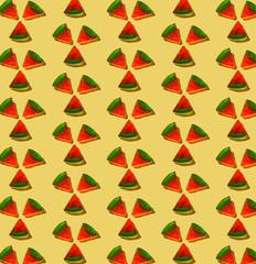 Gummy Pizza Pattern on Yellow