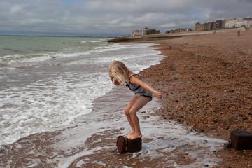 Balancing on Brighton Beach