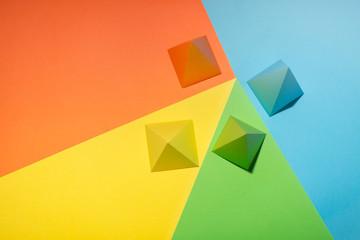 Multi-Coloured shapes on a multi-coloured background (3)