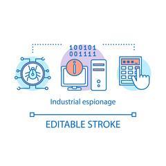 Industrial espionage concept icon - fototapety na wymiar