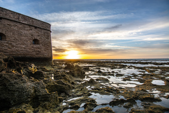 Atardecer Castillo de San Sebastian, Cadiz