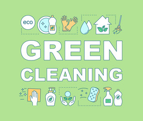 Green cleaning word concepts banner