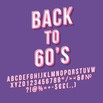 Back to 60s 3d vector lettering