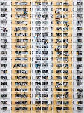 Residencial buildings facades in Hong Kong