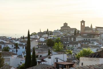 Rooftops of Albaicín at Dusk - Granada, Spain