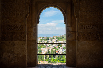 View of Albaicín Through an Ornate Doorway - Granada, Spain