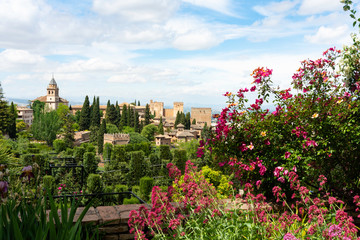 Alhambra Palace from the Generalife - Granada, Spain