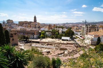 View of the Alcazaba and City - Málaga, Spain