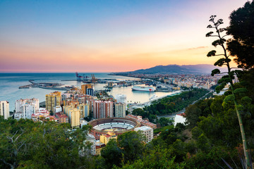 View from the Gibralfaro Lookout - Malaga, Spain