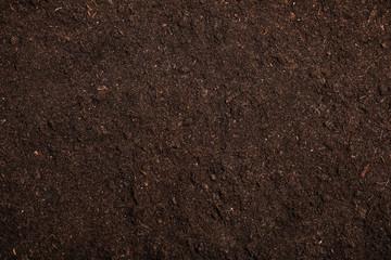 Fototapeta Textured fertile soil as background. Gardening season obraz