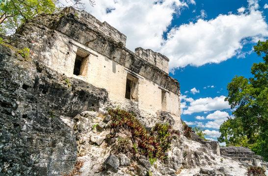Ancient Mayan ruins at Tikal in Guatemala