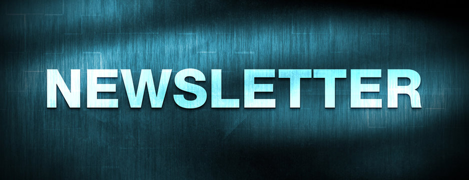 Newsletter abstract blue banner background