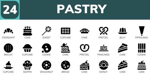 pastry icon set Fototapete