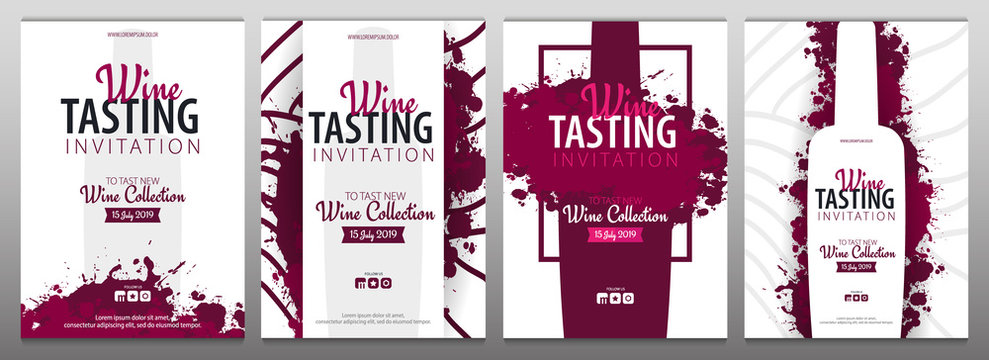 Wine tasting. Template for promotions or presentations of wine events.