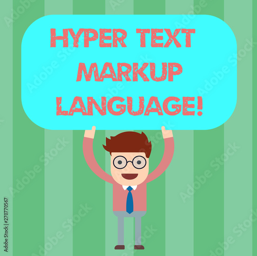 Handwriting text Hyper Text Markup Language  Concept meaning