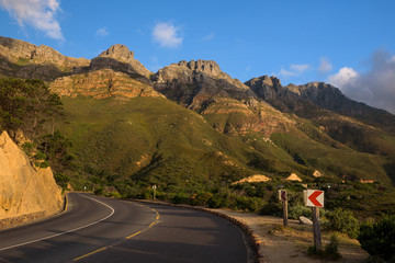 A few of the twelve apostles seen from Chapman's Peak Drive, Cape Town, South Africa