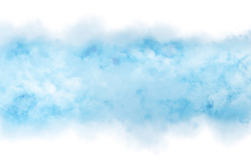 Abstract blue watercolor with cloud texture background