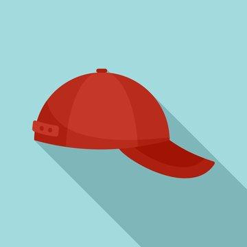 Baseball cap icon. Flat illustration of baseball cap vector icon for web design