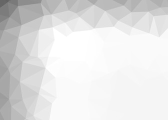 Abstract Gray and white Polygon Mosaic  background