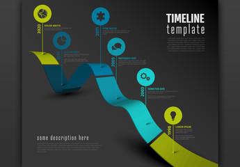 3D Timeline Path on Dark Layout