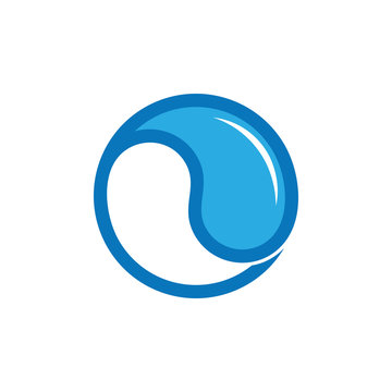 water shine rotation balance symbol logo vector