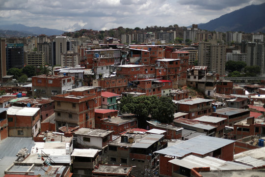 A view of Petare neighborhood from a balcony of a house of family of Erick Altuve, a 11-year-old boy who died from respiratory problems while in care for stomach cancer at the public Jose Manuel de los Rios hospital, in Caracas