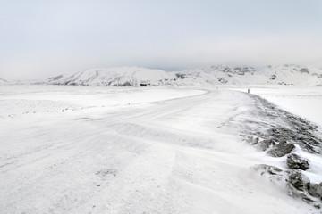 Iceland countryside winter landscape Papier Peint
