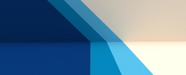 Render de estudio para presentación de producto. Fondo de lineas con patrones, degradados y reflectores. Ilustración de entorno tridimensional