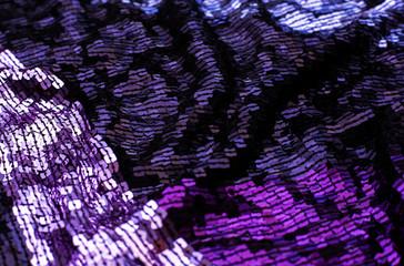 Texture of purple sequins
