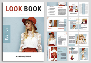Lookbook Layout with Blue Accents