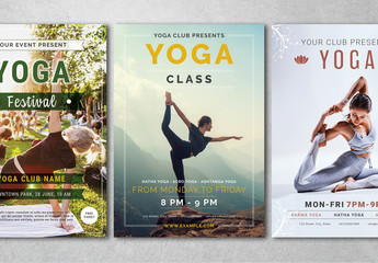 Yoga Flyer Layouts with Photo Placeholders