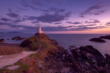 Photo sur Toile Cote sunset on anglesey wales uk
