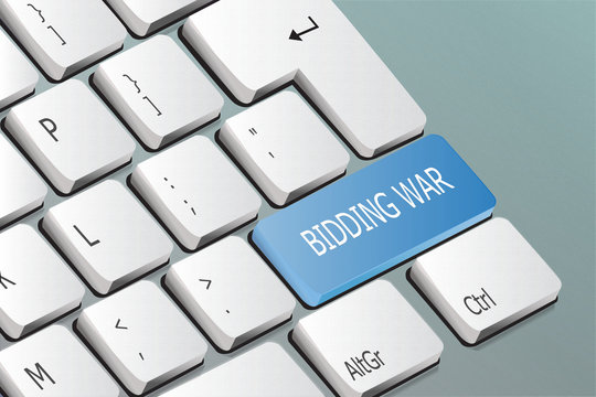 bidding war written on the keyboard button