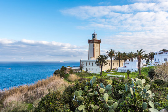 Lighthouse at the cape Spartel in Tangier, Morocco