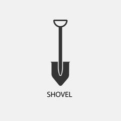 Shovel vector icon illustration sign