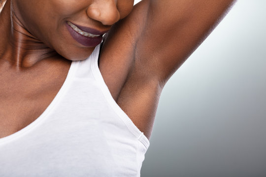 Woman Showing Clean Underarms