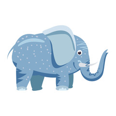 Cute elefant, animal, trend cartoon style vector