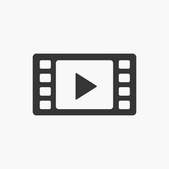 Play video icon. New trendy styles line video play graphic for website, logo, video, app, UI.