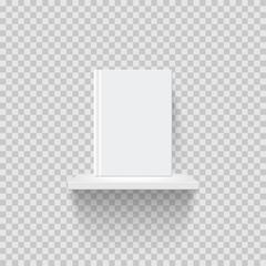 Decorative bookshelf realistic vector illustration