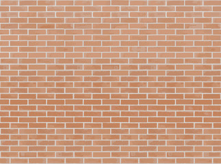 Orange brick wall seamless Vector illustration background. Texture pattern for continuous replicate