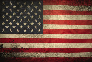 Grunge american flag background for your design.