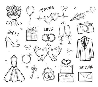 Wedding naboo. Freehand drawing. Vector graphics. Eps
