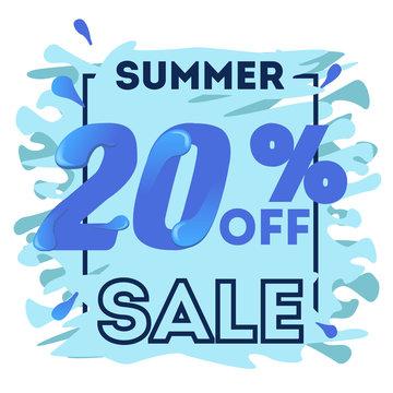 20% off summer discount banner