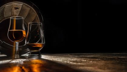 Calvados, digestif, aperitif, cognac - aged in an oak barrel Fototapete