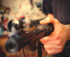 restoration of the old German submachine gun MP-38