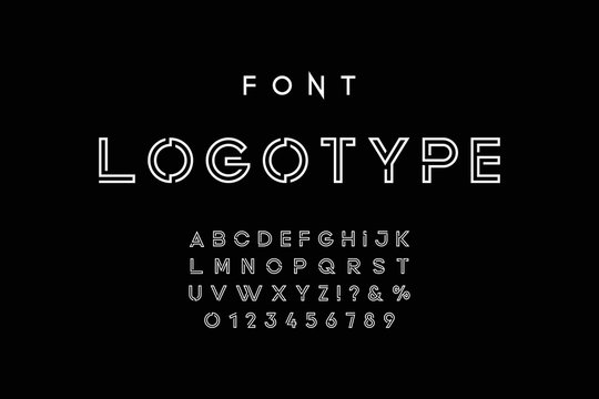 Modern abstract font.