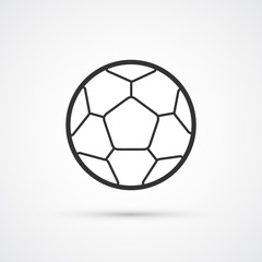 Football vector black icon. Vector soccerball eps10